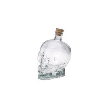 Bouteille tête de mort transparente
