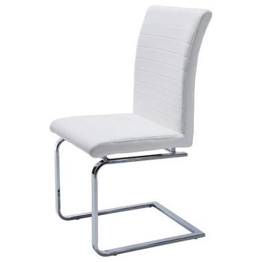 Chaise blanche et chrome Comodita