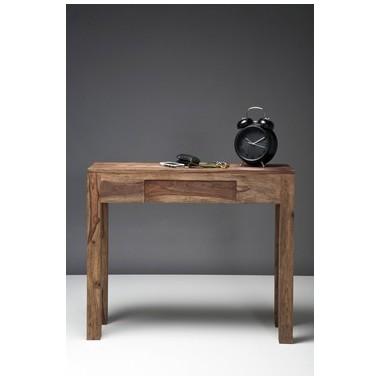 Console authentico bois avec tiroir 90x30cm