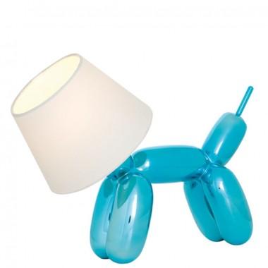 """Lampe de Table """"Doggy"""" Bleu Métalique"""