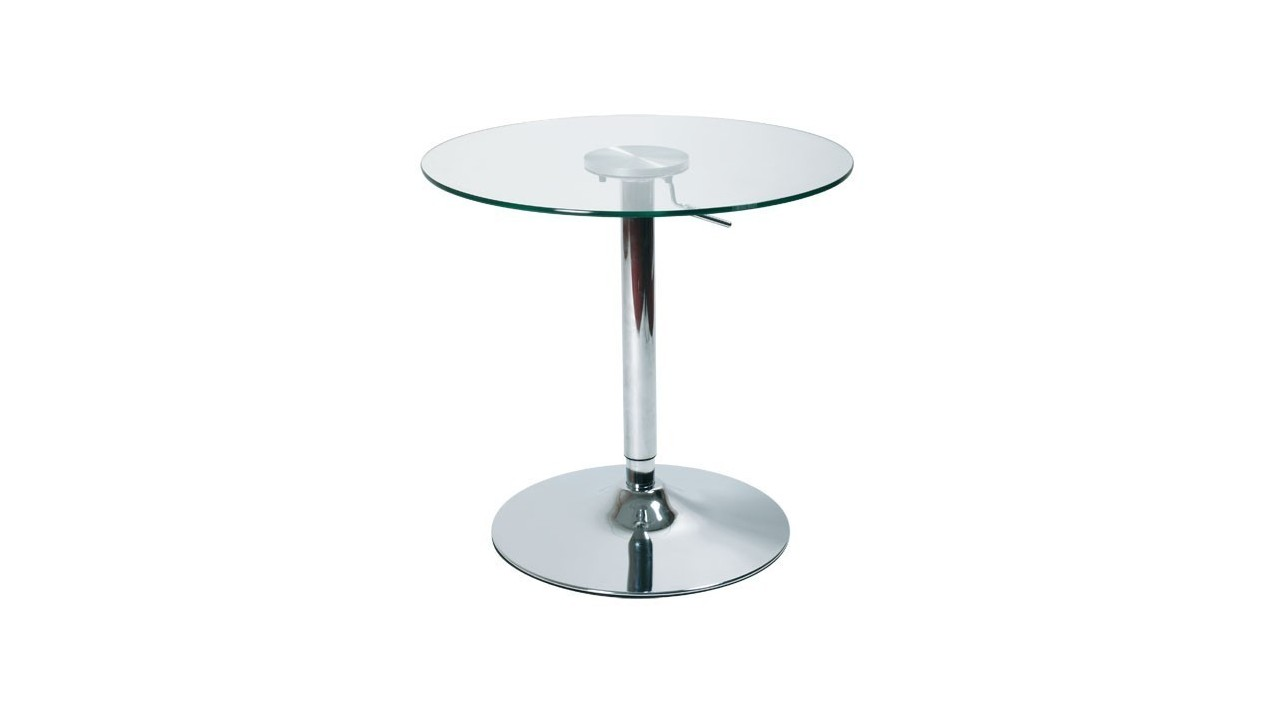 Table de bar ronde reglable for Table ronde bar