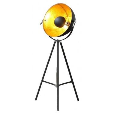 Lampadaire studio photo trépied Bowl noir doré