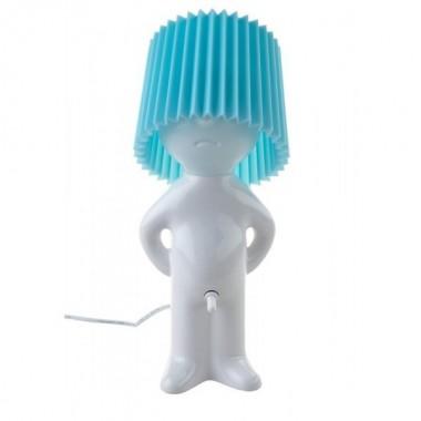 Lampe design MR. P One man shy blanche et bleu