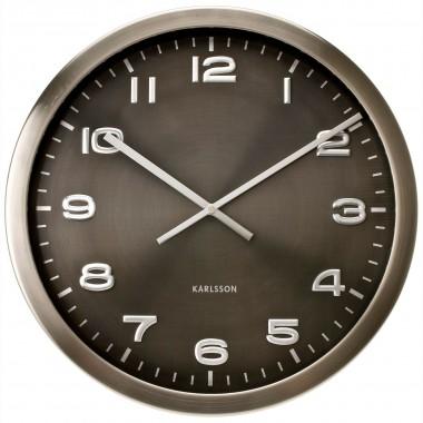 Horloge Karlsson Maxie métal poli alu 50 cm