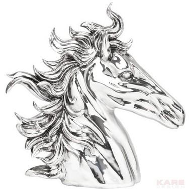 Déco Tête de cheval chromée