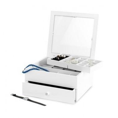 Boîte à bijoux avec tiroir blanche grand modèle