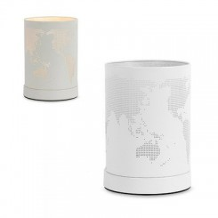 Lampe globe terrestre tactile blanche