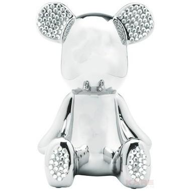 Tirelire art toys Funky Bear chromée strass