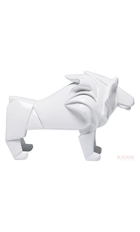achetez votre statue d co lion origami blanc pas cher sur loft. Black Bedroom Furniture Sets. Home Design Ideas