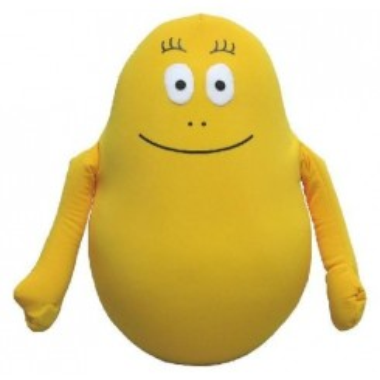 Coussin Barbidou jaune 30cm