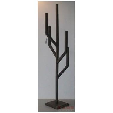 Chandelier sur pied noir Exposition 130cm