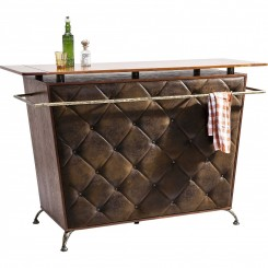 BAR CAPITONNE MARRON VINTAGE LADY ROCK DELUXE KARE DESIGN