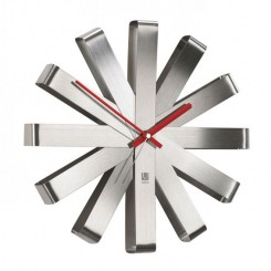HORLOGE CHROMEE RIBBON UMBRA