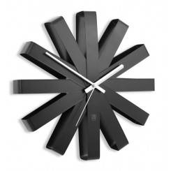 HORLOGE NOIR RIBBON UMBRA