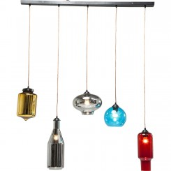Suspension bouteilles multicolores Dinning