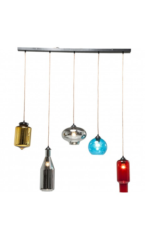 Suspension bouteilles multicolores modern times Dinning