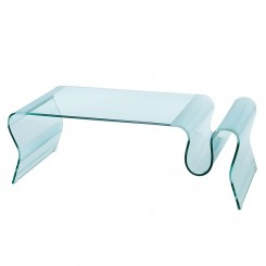 Table basse design verre transparent Infinity