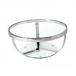 Table basse design chrome et verre Sparkling