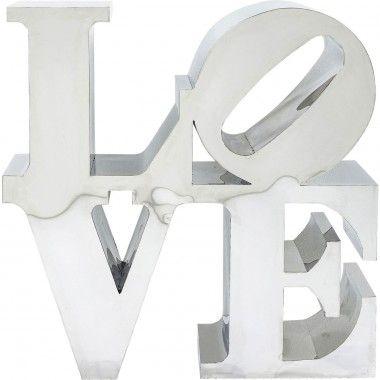 Objet décoratif LOVE inox brillant