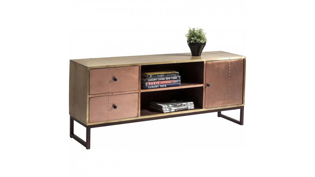 achetez votre meuble tv 3 portes industriel cuivre copper kare design. Black Bedroom Furniture Sets. Home Design Ideas