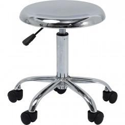 Tabouret de bar à roulettes chrome Flexible
