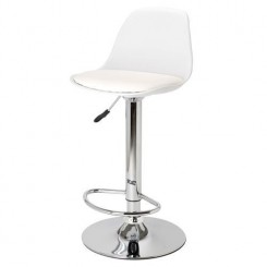 Tabouret de bar Egg blanc