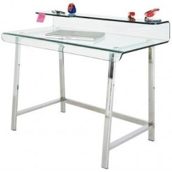 Bureau design en verre VISIBLE CLEAR