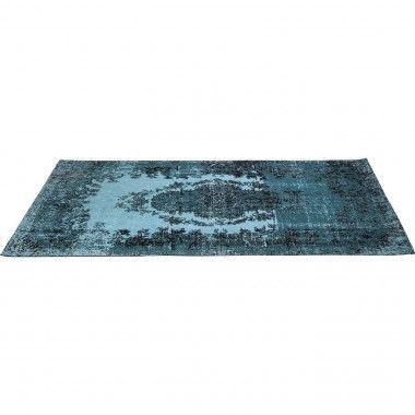 Tapis 240 x 170 cm bleu turquoise pop Kelim