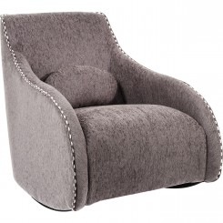 FAUTEUIL CLUB ROCKING CHAIR TISSUS GRIS SWING RITMO KARE DESIGN