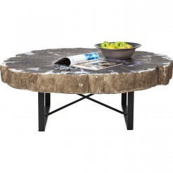 TABLE BASSE INDUSTRIELLE TRONC D'ARBRE TRONCO KARE DESIGN