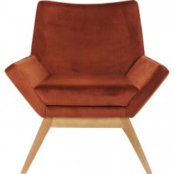 FAUTEUIL VINTAGE ORANGE EN DAIM PIXIE KARE DESIGN