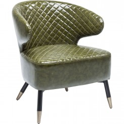 FAUTEUIL VINTAGE VERT OLIVE COCKTAIL SESSION KARE DESIGN