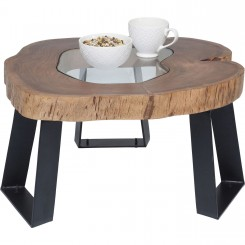 TABLE BASSE DESIGN BOIS ET ACIER FUNDY KARE DESIGN