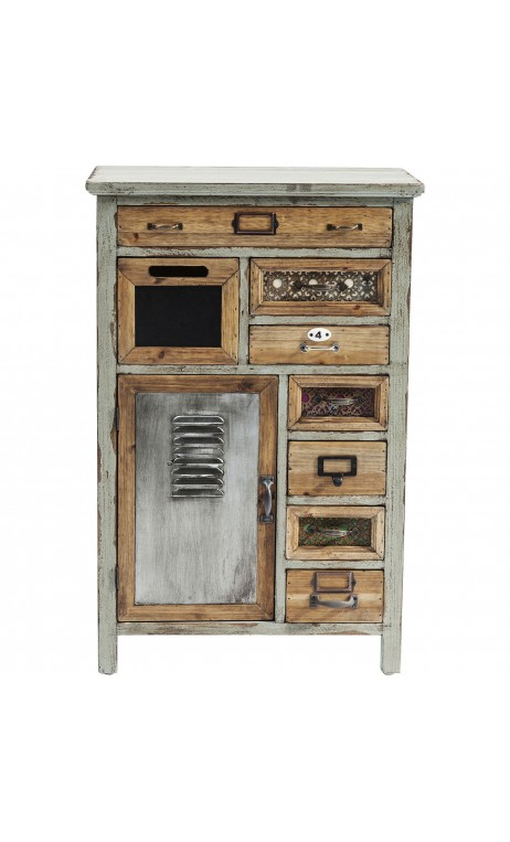 achetez votre commode chiffonnier industrielle bois et fer goa puro kare design pas cher sur loft. Black Bedroom Furniture Sets. Home Design Ideas