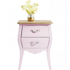 TABLE DE CHEVET ROSE 2 TIROIRS ROMANTIC KARE DESIGN