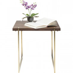 TABLE D'APPOINT 45 X 45 CM BOIS ET OR MONTANA KARE DESIGN