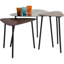 TABLE BASSE CUIVRE INDUSTRIELLE X 3 LOFT KARE DESIGN