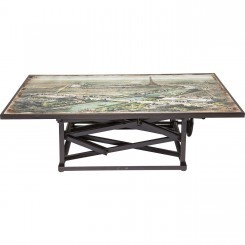 TABLE BASSE 140 CM AJUSTABLE CARTE DE PARIS MAP KARE DESIGN