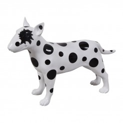 CHIEN BULL TERRIER BLANC A POIS NOIRS FUNNY DRIMMER