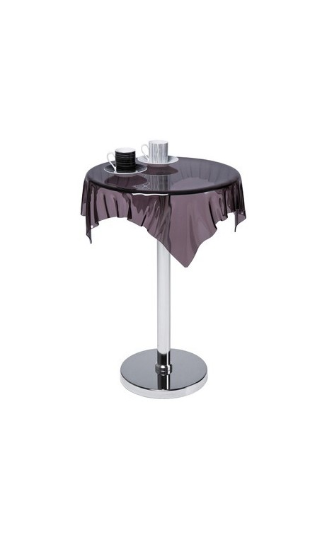 achetez votre table d 39 appoint nappe acrylique transparente fum e pas. Black Bedroom Furniture Sets. Home Design Ideas