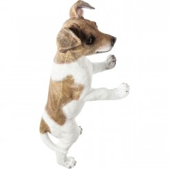 STATUETTE CHIEN JACK RUSSELL A POSER CURIOUS DOG KARE DESIGN