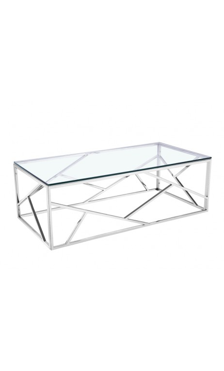 Transparent Namur Chrome Table Cher Basse Cm 120 Pas Verre Et TFlKc1J