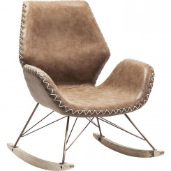 FAUTEUIL ROCKING CHAIR A BASCULE MARRON FLORIDA KARE DESIGN