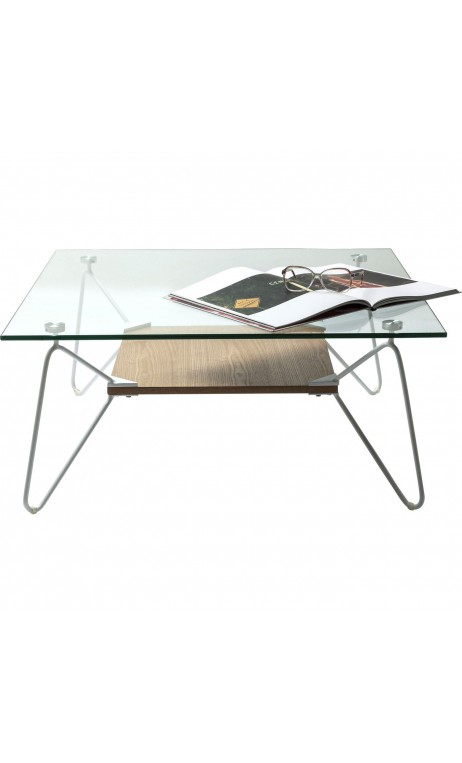 Table basse carree verre et bois - Table basse carree verre ...