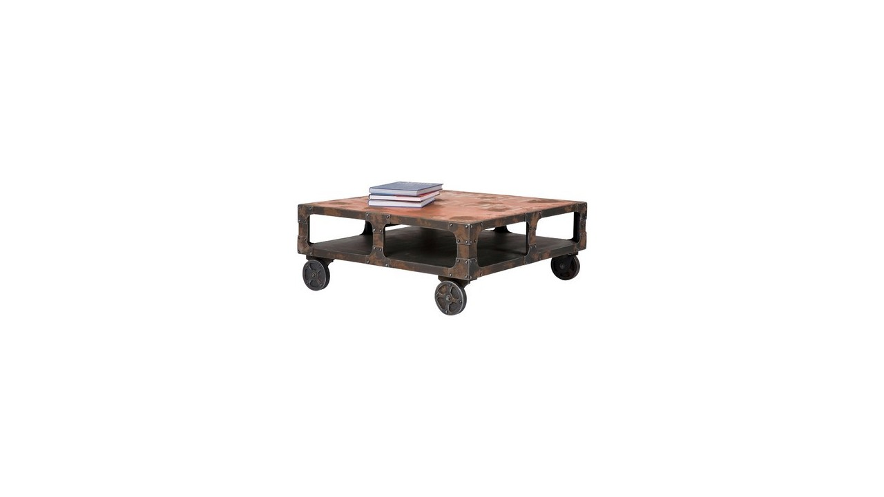 Achetez votre table basse carree industrielle manufaktur for Table basse carree industrielle