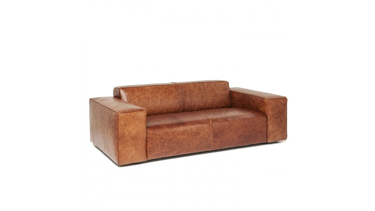 Achetez votre canap vintage 2 places cuir marron big hug for Canape cuir marron 2 places