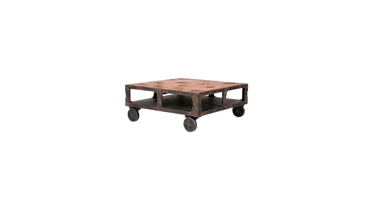 Achetez votre table basse carree industrielle manufaktur for Table basse design 100 x 100