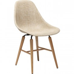 CHAISE AU STYLE NATUREL BEIGE ET BOIS FORUM KARE DESIGN