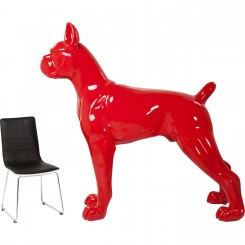 CHIEN TOTO XXL ROUGE DECORATIF KARE DESIGN