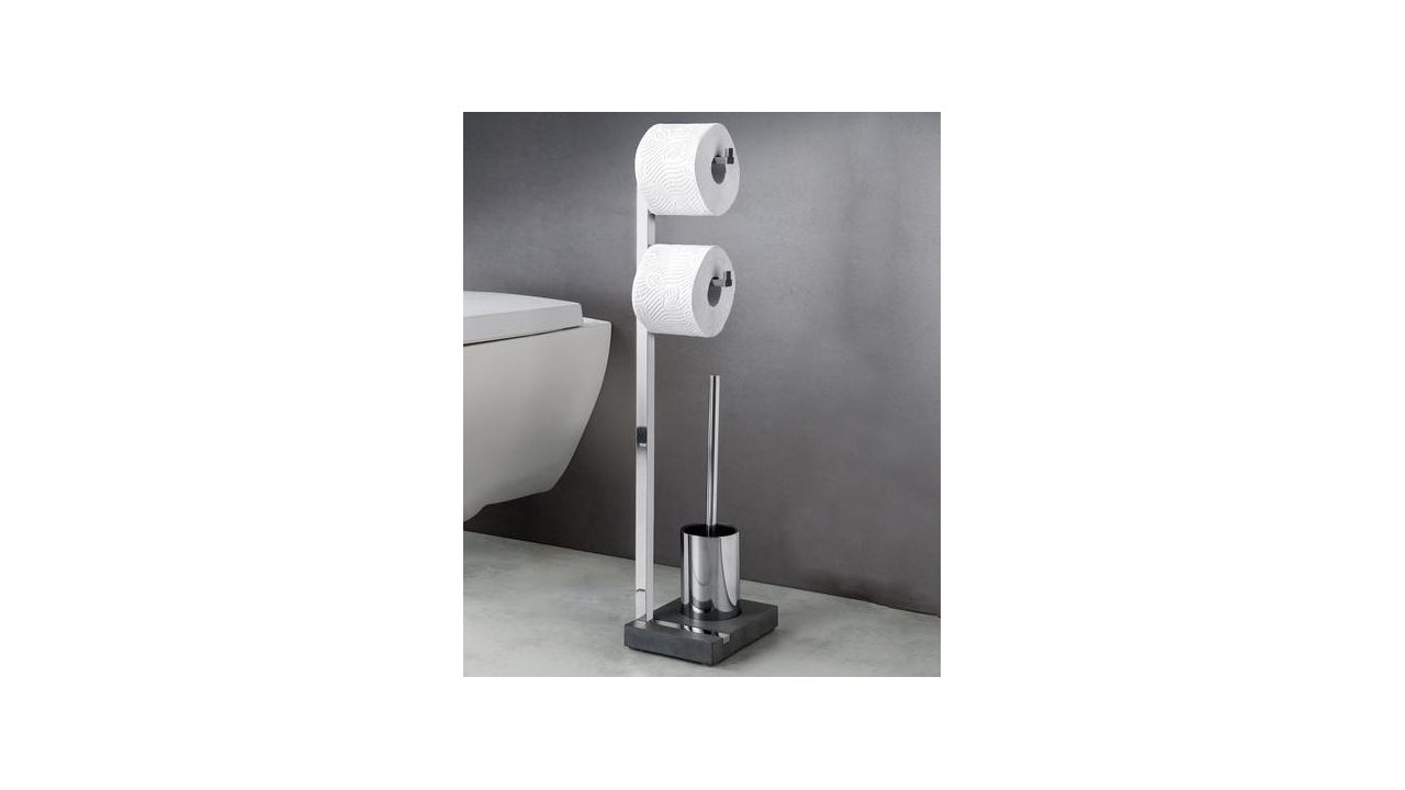 serviteur papier brosse wc menoto inox poli blomus eur 148 34 picclick fr. Black Bedroom Furniture Sets. Home Design Ideas
